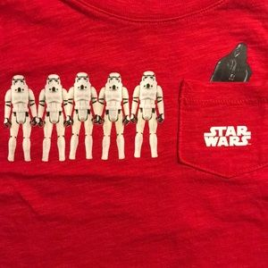 Baby Gap Star Wars t-shirt Vader and Troopers